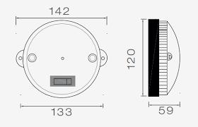 Aspock Inpoint binnenverlichting met schakelaar technisch tekening